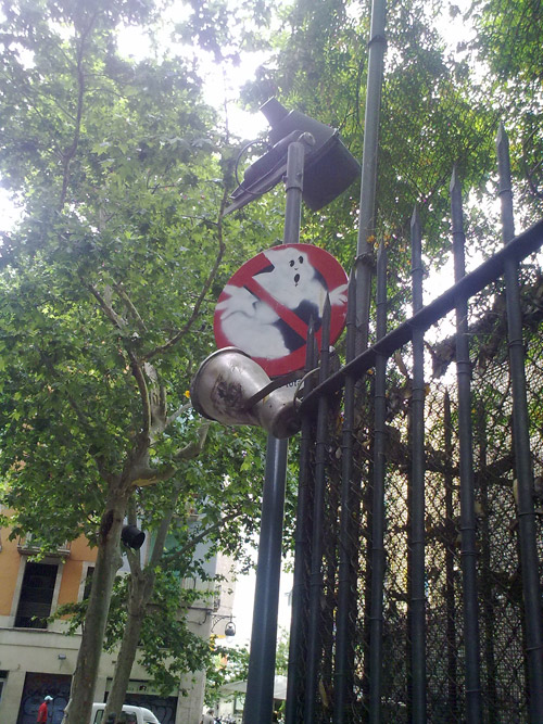 ghostbusters street sign